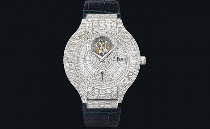 18K Gold and Diamond Piaget Polo with Flying Tourbillon